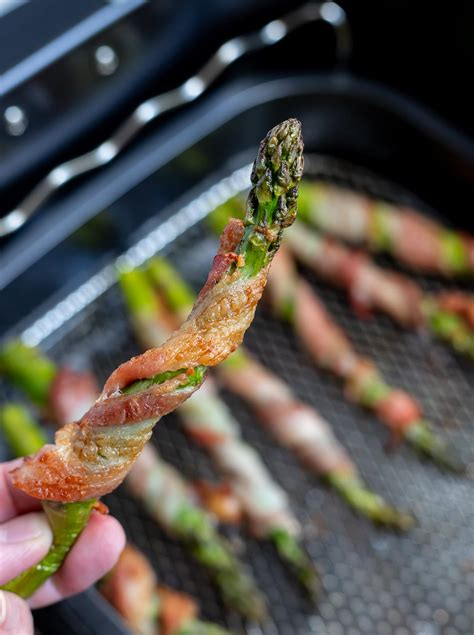 air asparagus fryer bacon wrapped recipe recipes minutes fried cook easy cooking keto