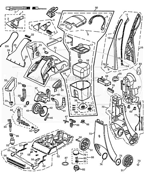 rug doctor parts bissell 1697 parts list and diagram ereplacementparts