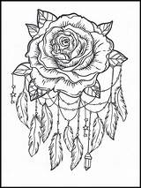 Dreamcatcher Coloring Pages Drawing Printable Colouring Children sketch template