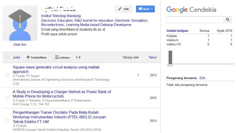 mengindeks jurnal  google scholar