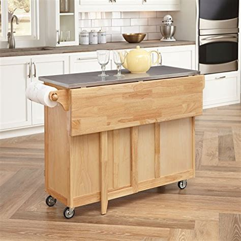 home styles kitchen island with breakfast bar home styles 5086 95 stainless steel top kitchen cart with 9240