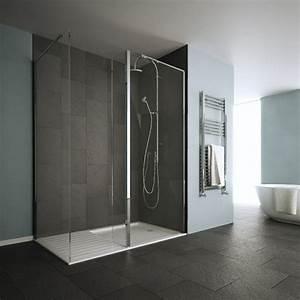 le receveur de douche extra plat elegance pour la salle With porte de douche coulissante avec radiateur salle de bain extra plat