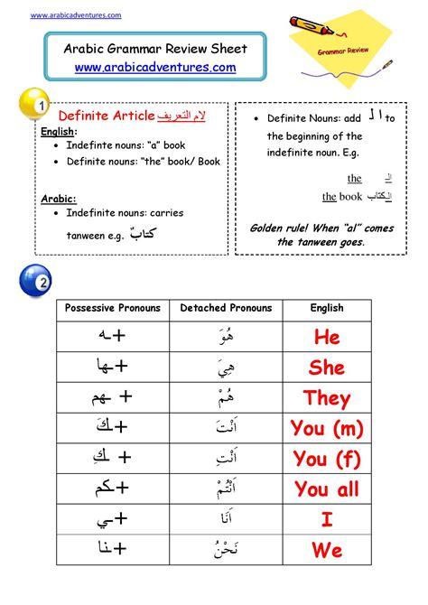attahed pronouns arabic arabic adventures