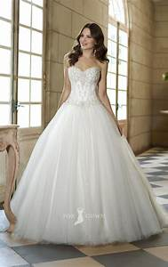 Elegant strapless corset wedding ball gowns ipunya for Wedding dress corset