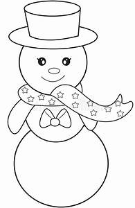 Top Hat Clipart Black And White - Coloring Page Snowman Hat