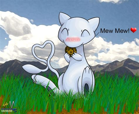 Mew Eating A Cookie Sooo Cute