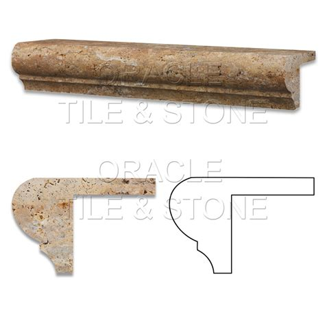 Oracle Tile And Stone by Scabos Travertine Corner Ogee Stair Tread Trim Liner