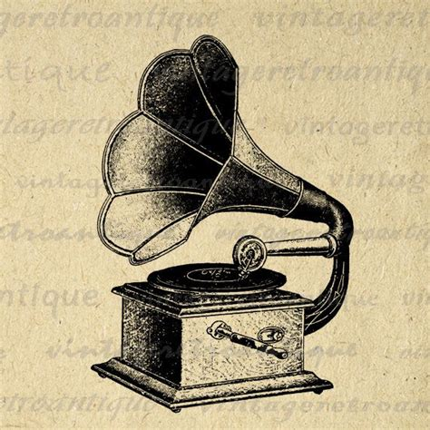 printable antique phonograph digital image  record