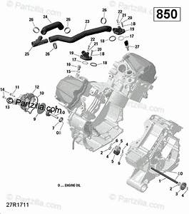 Can-am Atv 2020 Oem Parts Diagram For Engine Cooling