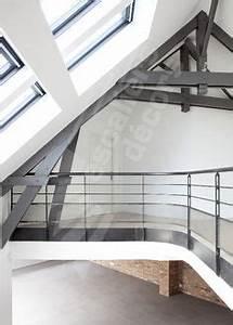 dt63 garde corps metallique en protection vide mezzanine With modele escalier exterieur terrasse 14 escalier escamotable