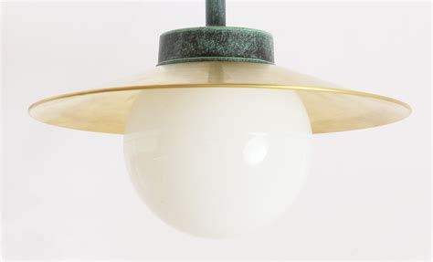classical ceiling barn l 38 cl br with brass shade