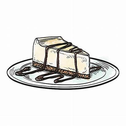 Cheesecake Vector Clip Drawing Illustrations Illustration Desserts