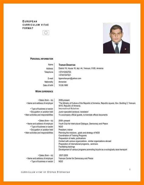 Mode De Cv by Cv Model Curriculum Vitae In Exles Cv