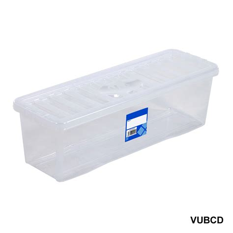 Plastic Storage Box Containers Blueclearpink Wham 1680