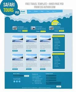 Premium Travel Web Design Template PSD For Free Freebie
