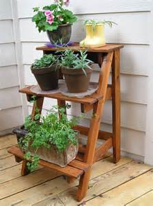 Patio Plant Stand Ideas by Outdoor Plant Stand See More Ideas About Outdoor Plant