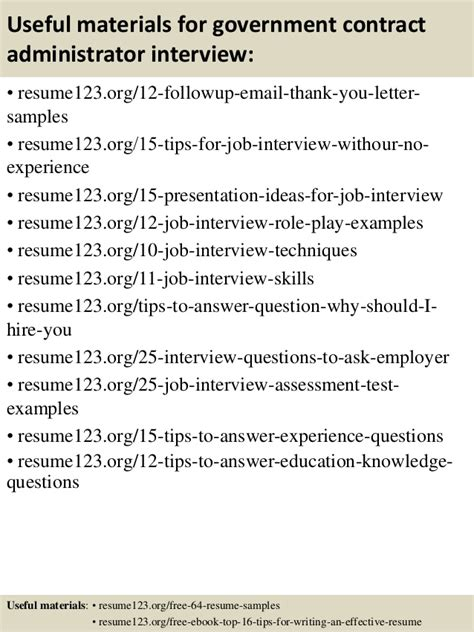 Government Contract Administrator Resume by Top 8 Government Contract Administrator Resume Sles