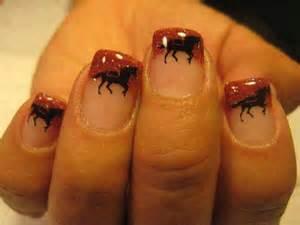 Cute horse nail art polish those nails