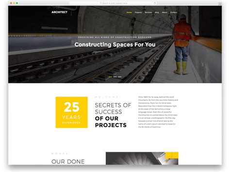 Top Website Template Builders by 25 Best Free Construction Website Templates For Modern