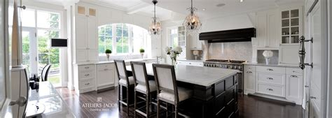 cuisine moderne noir et blanc la shabby chic armoires de cuisine classique ateliers jacob