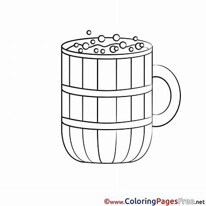 Beer Coloring Mug Pages Sheet Sheets Title