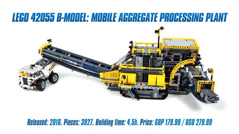 lego technic 42055 lego technic 42055 b model mobile aggregate processing