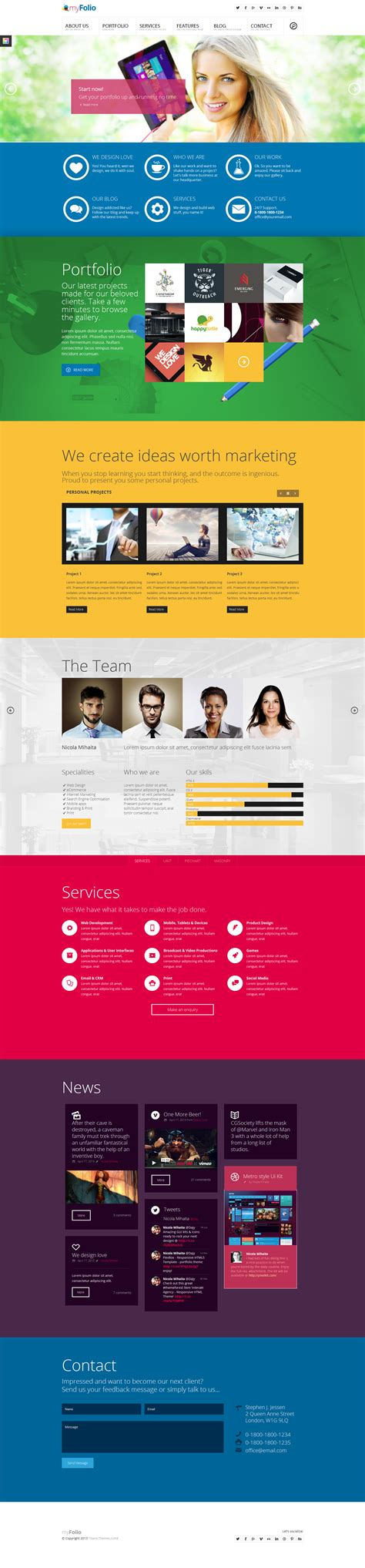 parallax website template myfolio parallax onepage html5 template by dajydesigns on deviantart
