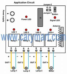 4 Channel Dc Output Remote Controller For Garden Lamps And