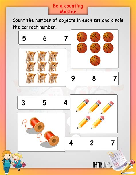 worksheet of maths for lkg comparing lkg math