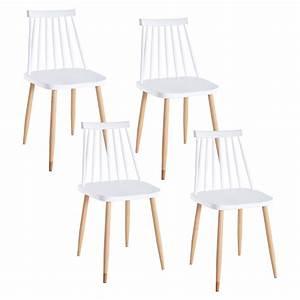 Lot 4 Chaises Scandinaves : deco in paris 4 lot de 4 chaises scandinaves blanches berta berta chaise blanc ~ Teatrodelosmanantiales.com Idées de Décoration