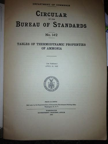 tables of thermodynamic properties of ammonia 1923 edition open library