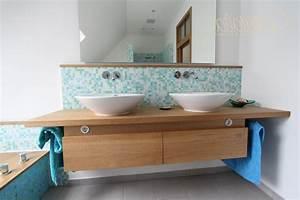 Waschtisch Mit Aufsatzbecken : aufsatzwaschbecken mit unterschrank eiche bad ok ~ Watch28wear.com Haus und Dekorationen
