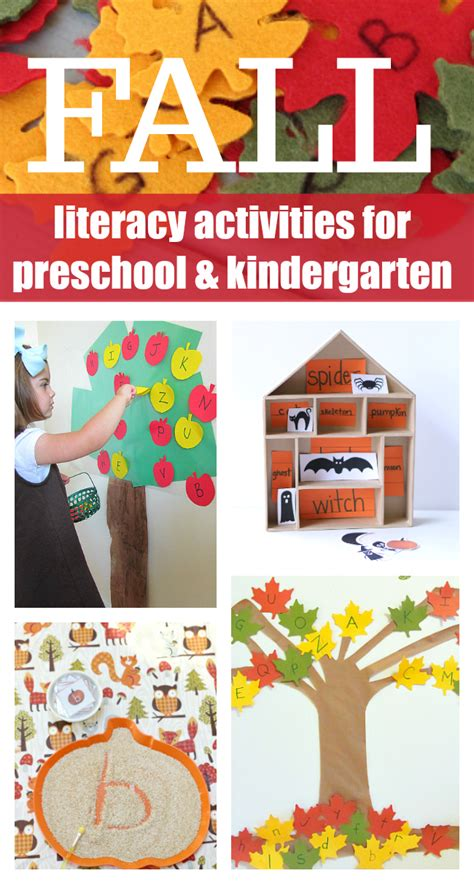 preschool literacy activities fall literacy activities for preschool and kindergarten 837