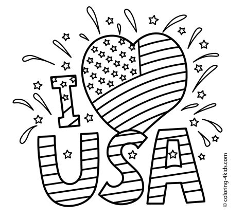 independence day coloring pages    print