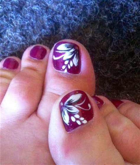 simple toenail designs 50 most beautiful and stylish flower toe nail design