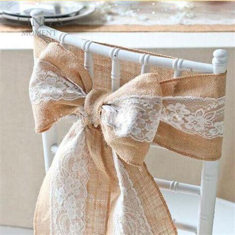 noeud de la chaise aliexpress com buy vintage burlap lace embroidery
