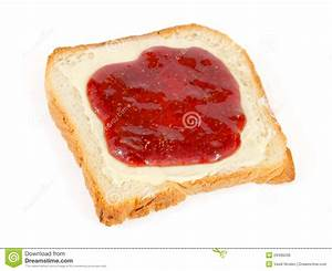 Bread Slice With Butter And Jam Royalty Free Stock Image ...