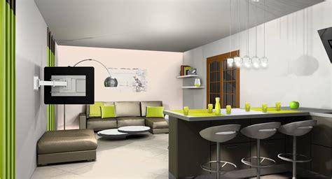 salon et cuisine décoration salon et cuisine ouverte