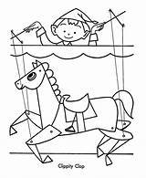 Puppet Coloring Pages Christmas Toys Horse Puppets Finger Template Master Sheets Five Nights Halloween Toy Printable Children Freddys Sheet Paper sketch template