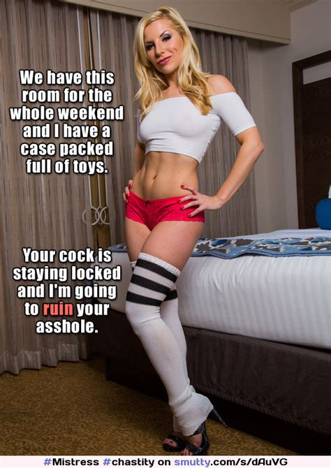 mistress chastity keyholder fetish femdom fit athletic gorgeous hot blonde socks captions