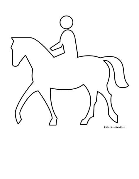 Springend Paard Kleurplaat by Paard Rijden Kleuren Is Leuk
