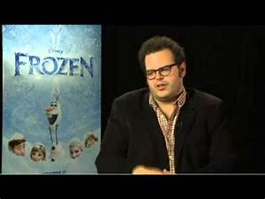 Josh Gad , Voice of Olaf the Snowman in Disney's Frozen ...