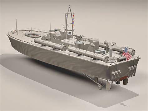 Motor Torpedo Boat PT 109 3d model 3ds Max files free