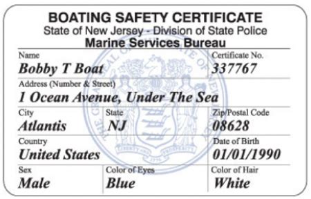 Nj Boating License Locations by Boating Safety Certificate Frequently Asked Questions