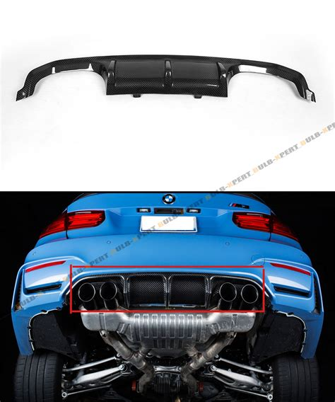 fits 2015 17 bmw f8x m3 m4 performance style carbon fiber rear bumper diffuser ebay