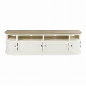 Meuble En Pin Massif Scandinave : meuble tv blanc ~ Melissatoandfro.com Idées de Décoration