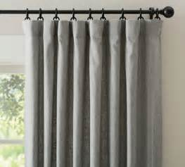 pottery barn curtains emery emery linen drape gray traditional curtains by