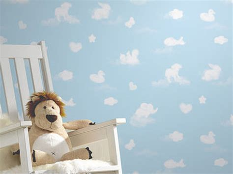 Childrens Animal Wallpaper Uk - wallpaper s blue white animal cloud wallpaper