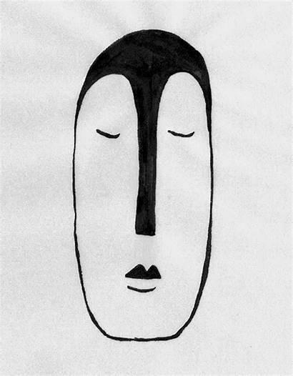 Drawn Gifs Hand African Masks Mask Warp