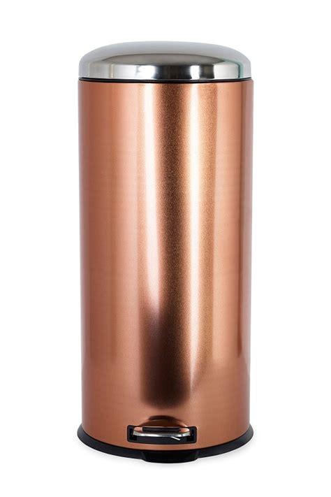 30 litre copper effect pedal bin golden chef